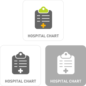 Hospital charts Pictogram Iconsのイラスト素材 [FYI03101943]