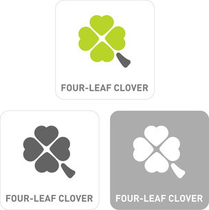The four-leaf clover Pictogram Iconsのイラスト素材 [FYI03101944]