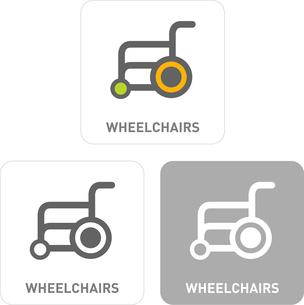 Wheelchair Pictogram Iconsのイラスト素材 [FYI03101945]