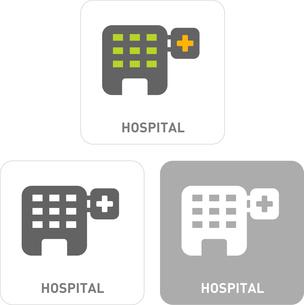 Hospital Pictogram Iconsのイラスト素材 [FYI03101946]