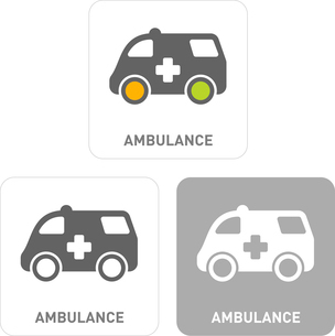 Ambulance Pictogram Iconsのイラスト素材 [FYI03101950]