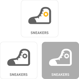 Sneakers Pictogram Iconsのイラスト素材 [FYI03101956]
