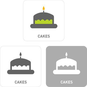 Cake Pictogram Iconsのイラスト素材 [FYI03101959]