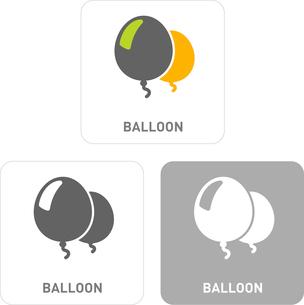 Balloon Pictogram Iconsのイラスト素材 [FYI03101962]