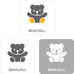 Teddy bear Pictogram Iconsのイラスト素材 [FYI03101965]