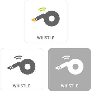 Whistle Pictogram Iconsのイラスト素材 [FYI03101966]