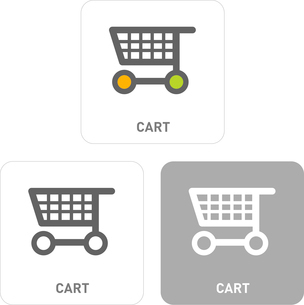 Shopping Cart Pictogram Iconsのイラスト素材 [FYI03101967]