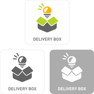 Delivery box Pictogram Iconsのイラスト素材 [FYI03101968]
