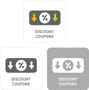 Discount coupons Pictogram Iconsのイラスト素材 [FYI03101971]