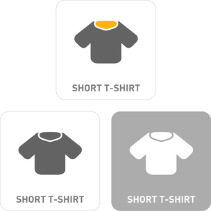 T-shirt Pictogram Iconsのイラスト素材 [FYI03101973]