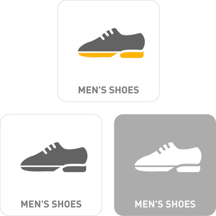 Shoe Pictogram Iconsのイラスト素材 [FYI03101976]