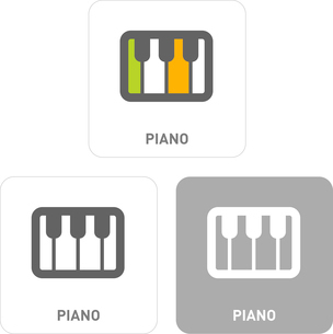 Piano Pictogram Iconsのイラスト素材 [FYI03101977]