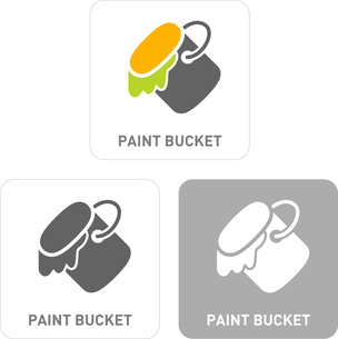 The Paint Bucket Pictogram Iconsのイラスト素材 [FYI03101980]