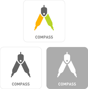 Compasses Pictogram Iconsのイラスト素材 [FYI03101982]