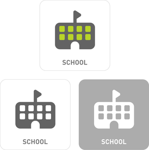 School Pictogram Iconsのイラスト素材 [FYI03101984]
