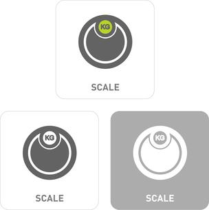 Scale Pictogram Iconsのイラスト素材 [FYI03101988]