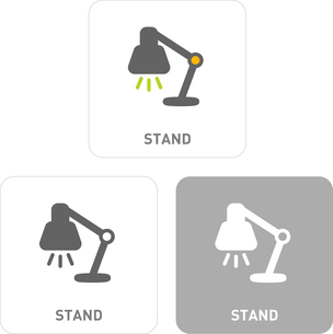 Stand Pictogram Iconsのイラスト素材 [FYI03101990]