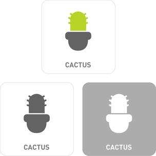 Cactus Pictogram Iconsのイラスト素材 [FYI03101992]