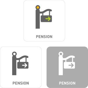 Pension Pictogram Iconsのイラスト素材 [FYI03101994]