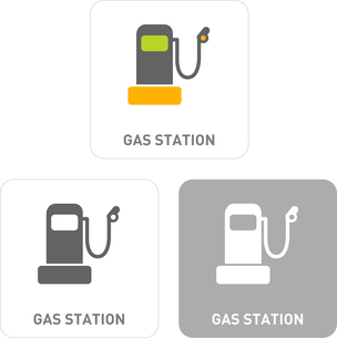 Gas station Pictogram Iconsのイラスト素材 [FYI03101997]