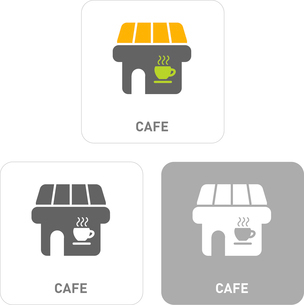 Cafe Pictogram Iconsのイラスト素材 [FYI03101999]