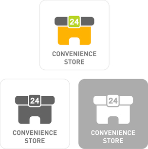 Convenience Pictogram Iconsのイラスト素材 [FYI03102000]