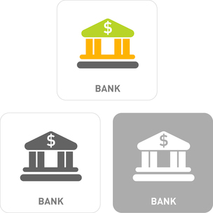 Bank Pictogram Iconsのイラスト素材 [FYI03102001]