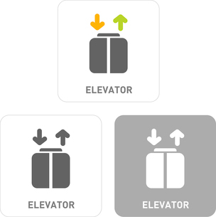 Elevator Pictogram Iconsのイラスト素材 [FYI03102004]