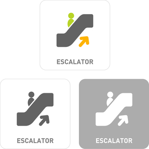Escalator Pictogram Iconsのイラスト素材 [FYI03102005]
