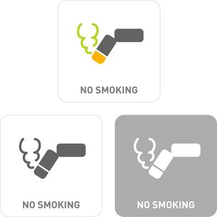 No smoking Pictogram Iconsのイラスト素材 [FYI03102006]