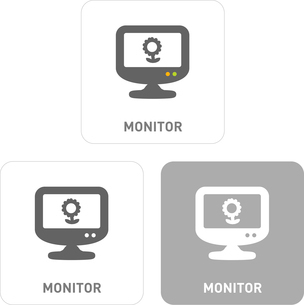 Monitor Pictogram Iconsのイラスト素材 [FYI03102007]