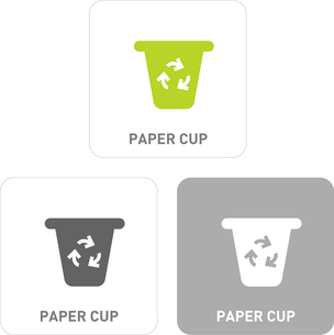 Cups Pictogram Iconsのイラスト素材 [FYI03102009]