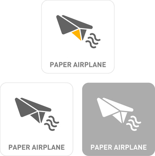 Paper Airplane Pictogram Iconsのイラスト素材 [FYI03102010]