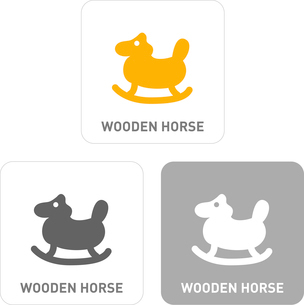 Toy horse Pictogram Iconsのイラスト素材 [FYI03102012]