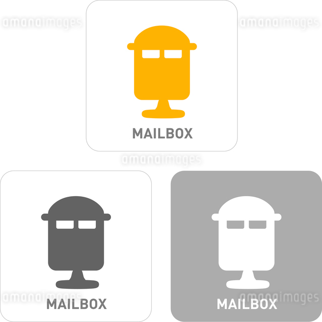 Mailbox Pictogram Iconsのイラスト素材 [FYI03102015]