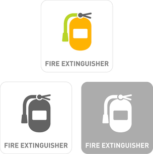 Fire extinguisher Pictogram Iconsのイラスト素材 [FYI03102016]