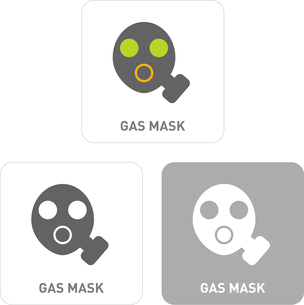 Gas mask Pictogram Iconsのイラスト素材 [FYI03102018]