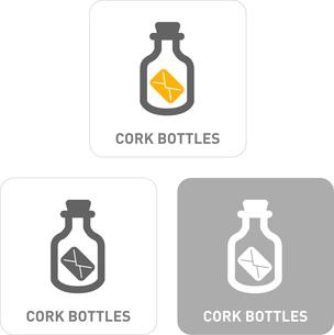Bottle cork Pictogram Iconsのイラスト素材 [FYI03102019]