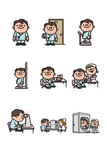 健康診断1のイラスト素材 [FYI03102094]