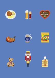ドイツの料理と土産物のイラスト素材 [FYI03102099]