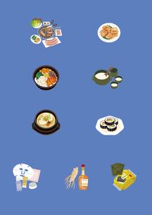 韓国の料理と土産物のイラスト素材 [FYI03102113]