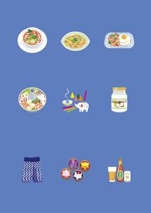 タイの料理と土産物のイラスト素材 [FYI03102122]