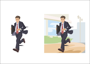 颯爽と走るビジネスマンのイラスト素材 [FYI03102191]