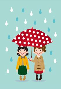今日は雨ふりのイラスト素材 [FYI03102237]
