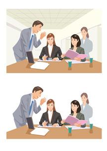 新事業について会議をする社員たちのイラスト素材 [FYI03102247]