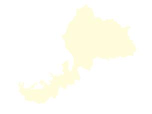 都道府県ポリゴン地図EPS福井県(境界無)のイラスト素材 [FYI03102252]