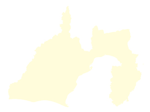 都道府県ポリゴン地図EPS静岡県(境界無)のイラスト素材 [FYI03102253]