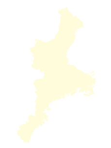 都道府県ポリゴン地図EPS三重県(境界無)のイラスト素材 [FYI03102254]