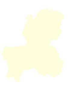 都道府県ポリゴン地図EPS岐阜県(境界無)のイラスト素材 [FYI03102255]