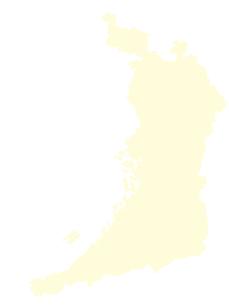 都道府県ポリゴン地図EPS大阪府(境界無)のイラスト素材 [FYI03102259]